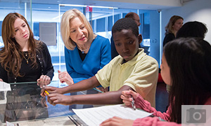 Penn President and Penn Libraries host Lea School Students